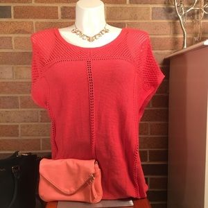 NWT!!! Old Navy short sleeved coral sweater